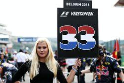 La Grid Girl de Max Verstappen, Red Bull Racing