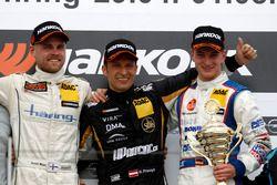 Podium: 2. Antti Buri, LMS Racing, SEAT Leon TCR; 1. Harald Proczyk, HP Racing, SEAT Leon TCR; Tim Z