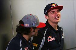 Carlos Sainz Jr., Scuderia Toro Rosso et Max Verstappen, Scuderia Toro Rosso