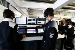Atmosphere in the McLaren garage