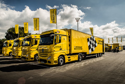 Dunlop truck in the Paddock