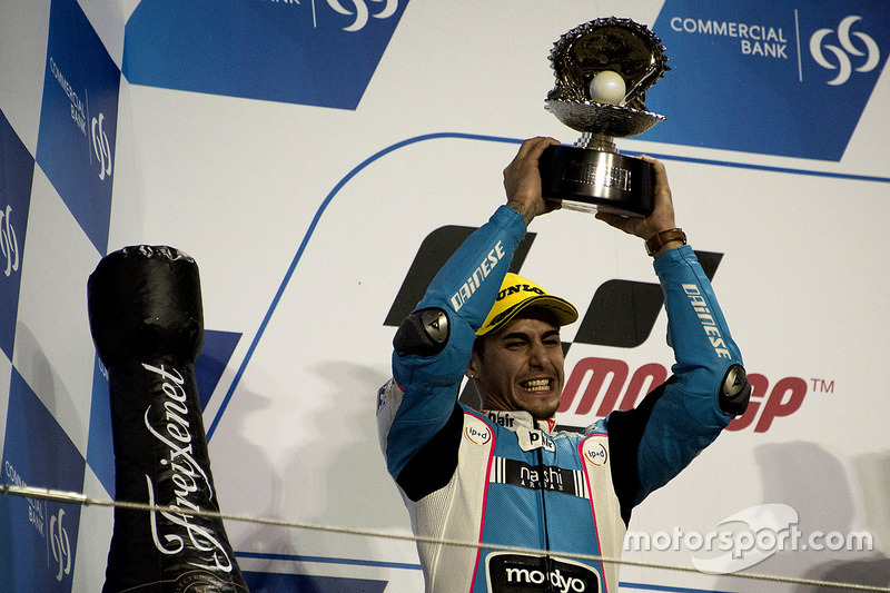 Podium: tweede Luis Salom, SAG Team, Kalex