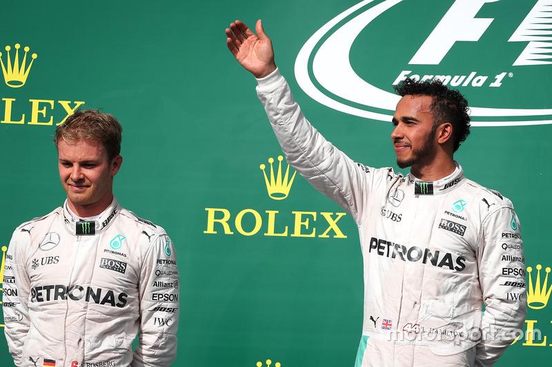 Nico Rosberg, Mercedes AMG Petronas F1 W07 y Lewis Hamilton, Mercedes AMG F1 W07