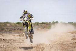 CS Santosh, Hero MotoSports Team Rally performs during a training session at the Dholavira ruins