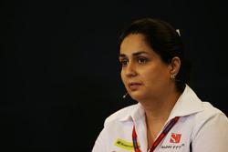 Monisha Kaltenborn, Sauber Jefe de equipo en la Conferencia de prensa FIA