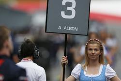 Grid girl for Alexander Albon, ART Grand Prix
