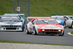 Gerhard Berger et Niki Lauda lors de la course des légendes de BMW M1 Procar