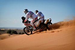 CS Santosh, Hero MotoSports Team Rally and Joaquim Rodrigues, Hero MotoSports Team Rally