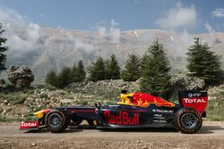 The Red Bull RB7 in the Cedars of God Forest, Lebanon