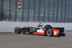 Alex Tagliani, A.J. Foyt Enterprises Honda crash