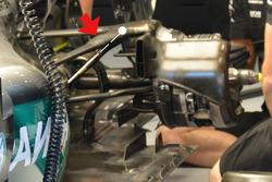 Mercedes AMG F1 W07 Hybrid, sospensione