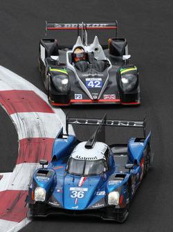 #36 Signatech, Alpine A460: Gustavo Menezes, Nicolas Lapierre, Stéphane Richelmi; #42 Strakka Racing