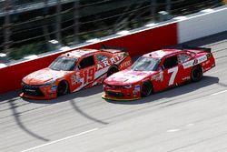 Daniel Suarez, Joe Gibbs Racing Toyota, Justin Allgaier, JR Motorsports Chevrolet