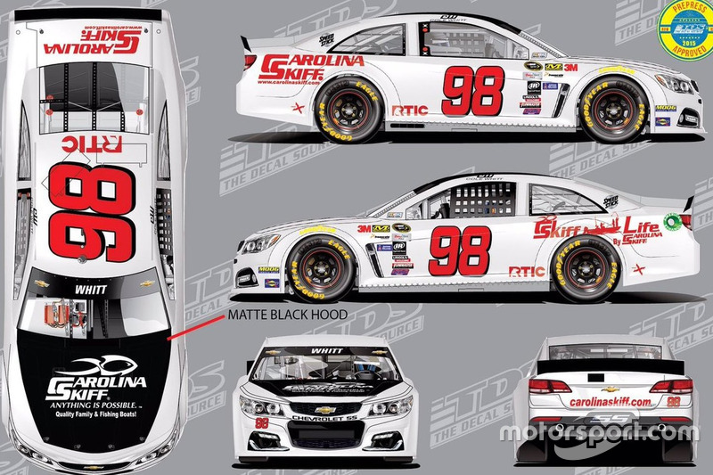 Throwback-Design von Cole Whitt, Premium Motorsports, Chevrolet