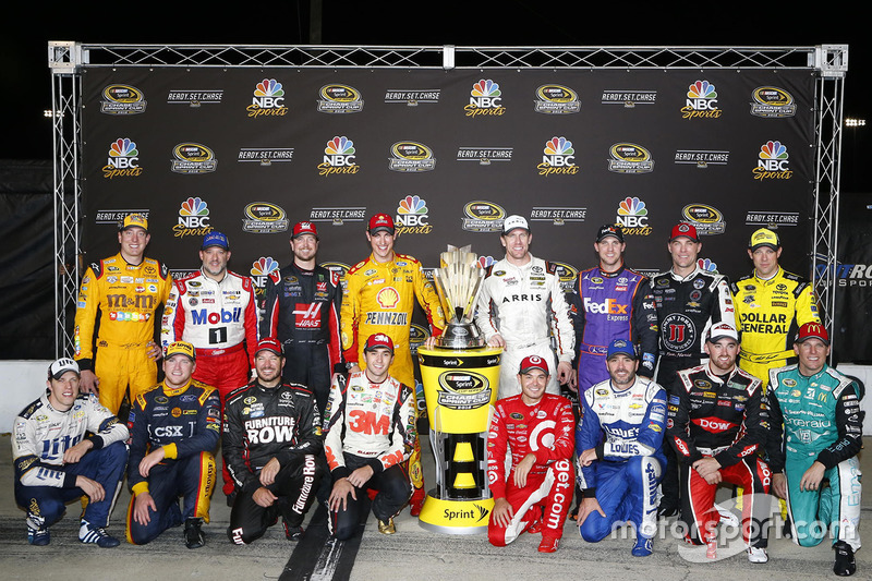 The Chase for the Sprint Cup field of drivers: Brad Keselowski, Team Penske Ford, Tony Stewart, Stew