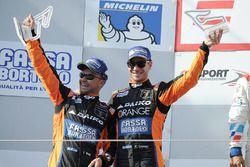 Podio: al secondo posto #27 Team Lazarus Lamborghini Huracan GT3: Thomas Biagi, Fabrizio Crestani