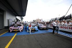 Parc ferme with race winner Edoardo Mortara, Audi Sport Team Abt Sportsline, Audi RS 5 DTM