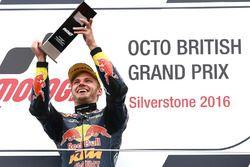 Podium: racewinnaar Brad Binder, Red Bull KTM Ajo