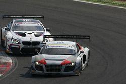 Audi R8LMS-GT3 #58 Audi Sport Italia, Zonzini-Russo e BMW MG GT3 #15 Comandini-Cerqui, BMW Team Ital