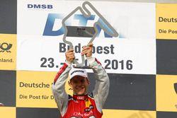 Podio: il vincitore della gara Mattias Ekström, Audi Sport Team Abt Sportsline, Audi A5 DTM