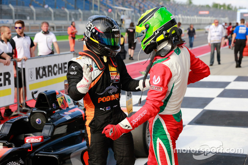 Joseph Mawson, Van Amersfoort Racing, and Mick Schumacher, Prema Powerteam