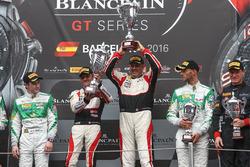 Pro-AM Podium: first place #87 AKKA ASP Mercedes AMG GT3: Jean-Luc Beaubelique, Morgan Moullin-Traff