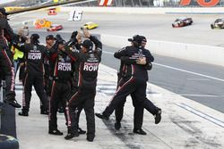 The Furniture Row Racing crew celebrates the win