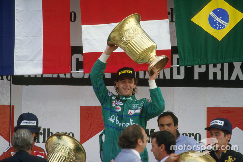 1986: 1. Gerhard Berger, 2. Alain Prost, 3. Ayrton Senna