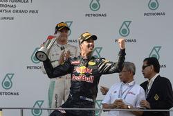 Podium : le vainqueur Daniel Ricciardo, Red Bull Racing