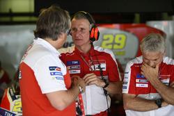 Davide Tardozzi, Ducati Team Team Principal, Paolo Ciabatti, Ducati Corse Sporting Director, Paolo Campinoti, Octo Pramac Racing Team Principal