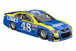Jimmie Johnson, Hendrick Motorsports Chevrolet met speciale oude livery