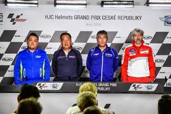 Ken Kawauchi, Suzuki Ecstar Team Manager, Shuhei Nakamoto, HRC Executive Vice President, Kouichi Tsuji, General Manager Motorsports Development Division, Yamaha Motor, Gigi Dall'Igna, Ducati Team General Manager