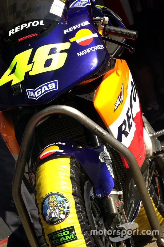 Das Motorrad von Valentino Rossi, Honda Team