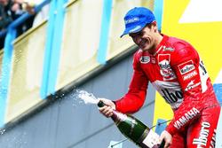 Podium: derde Carlos Checa, Yamaha Team