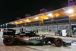 Серхио Перес, Sahara Force India F1 VJM09 выезжает из гаража