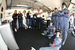 Le garage de Team Bentley M-Sport