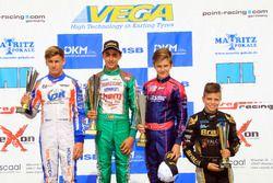 DJKM Rennen 2: 1. David Vidales; 2. Dennis Hauger; 3. Theo Pourchaire; 4. Victor Martins