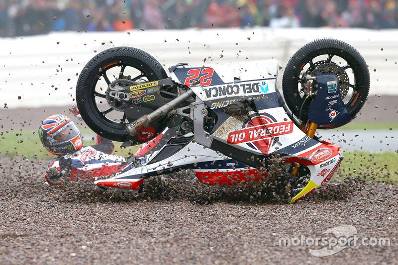 6. Sam Lowes, Federal Oil Gresini Moto2 crash