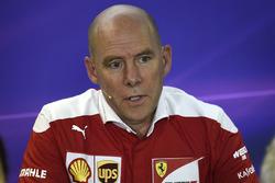 Jock Clear, Directeur de l'ingénierie Ferrari lors de la conférence de presse de la FIA