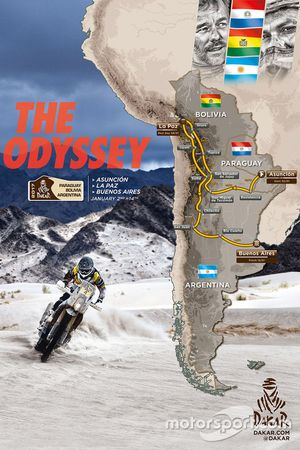 Route van Dakar Rally 2017