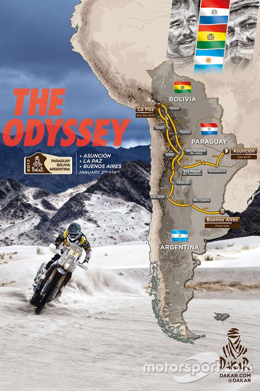 Mapa del Dakar 2017