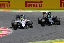 Felipe Massa, Williams F1 Team et Nico Hulkenberg, Sahara Force India