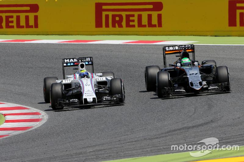 Felipe Massa, Williams F1 Team and Nico Hulkenberg, Sahara Force India