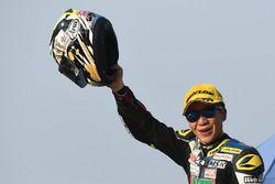 Race 1 SuperSports 600cc winner Tomoyoshi Koyama