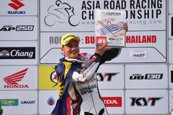 Podium SuperSports 600cc: race winner Zaqhwan Zaidi