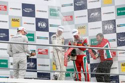Podium: Maximilian Günther, Prema Powerteam Dallara F312 - Mercedes-Benz; Lance Stroll, Prema Powert