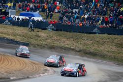 Timmy Hansen, Team Peugeot Hansen; Sébastien Loeb, Team Peugeot Hansen; Petter Solberg, Petter Solbe