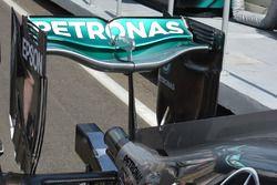 Alerón trasero del Mercedes AMG F1