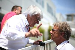 (L to R): Bernie Ecclestone, with Hermann Tilke, Circuit Designer