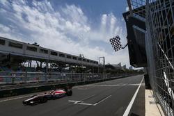 Nobuharu Matsushita, ART Grand Prix, crosses the finish line